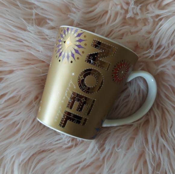 Starbucks Gold Noel Christmas Mug